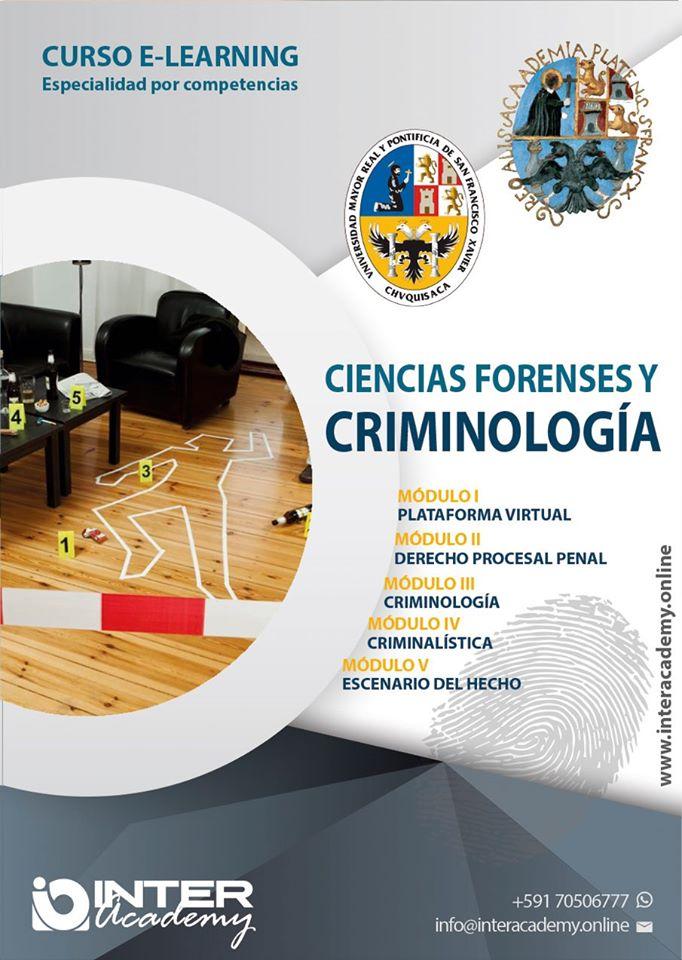 CIENCIAS FORENSES Y CRIMINOLOGÍA